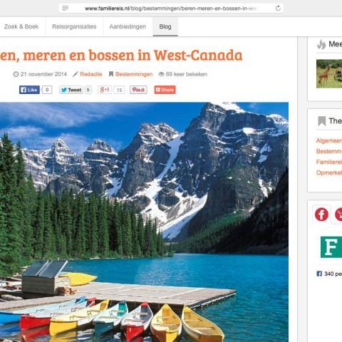 Familiereis.nl - Canada