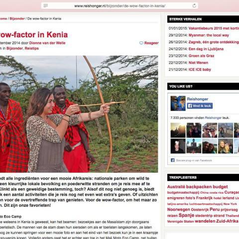 Reishonger.nl - Kenia