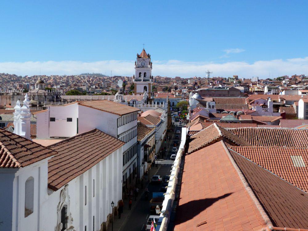 10x doen in Sucre, Bolivia - uitzicht over de rooftops