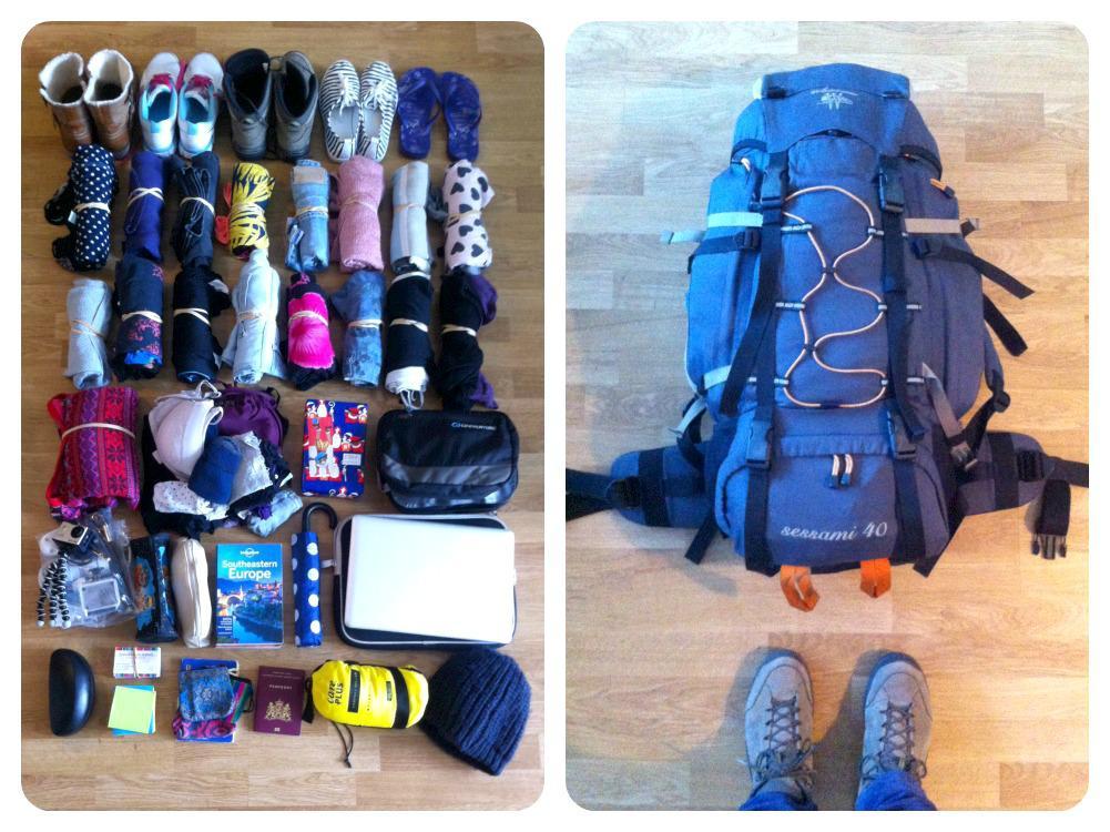 aankomst in Belgrado, Servië - inpakken van mijn backpack
