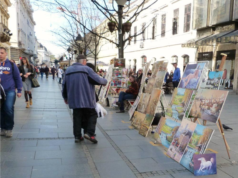 belgrado-citytrip-knez-mihailova-schilderijen