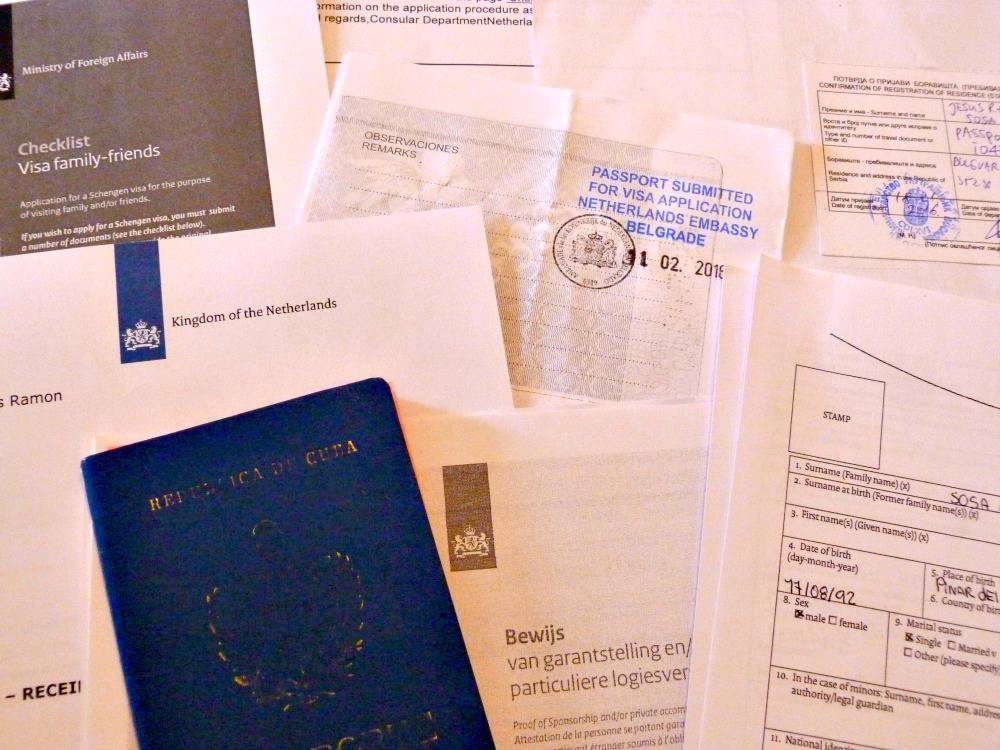 visa-ingediend-schengen-papieren