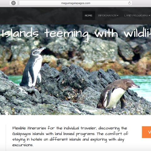 Me Gusta Galápagos website