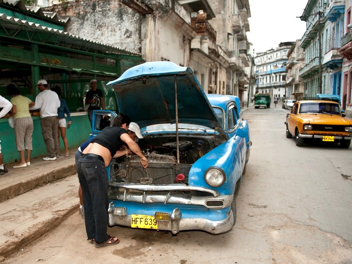 cuba auto huren pech onderweg