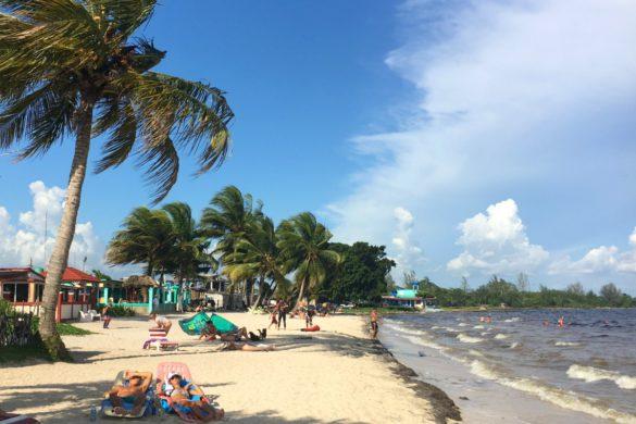 strand vol mooie vrouwen
