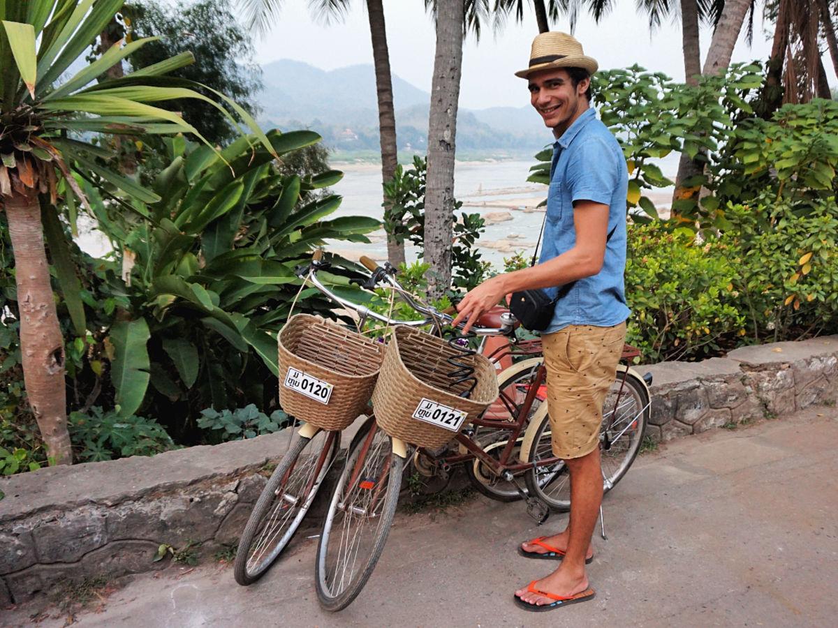 Doen in Luang Prabang, Laos - fietsen Mekong
