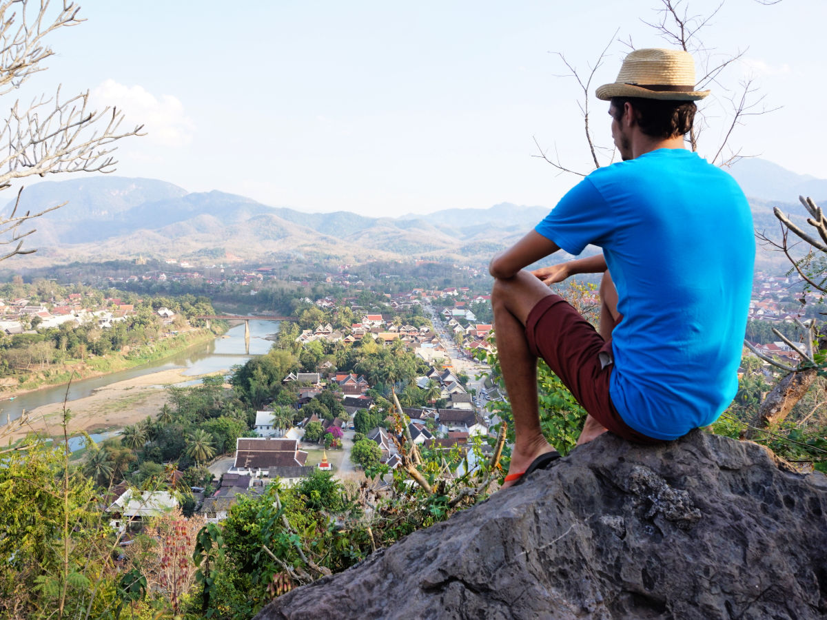 Doen in Luang Prabang, Laos - Mount Phousi