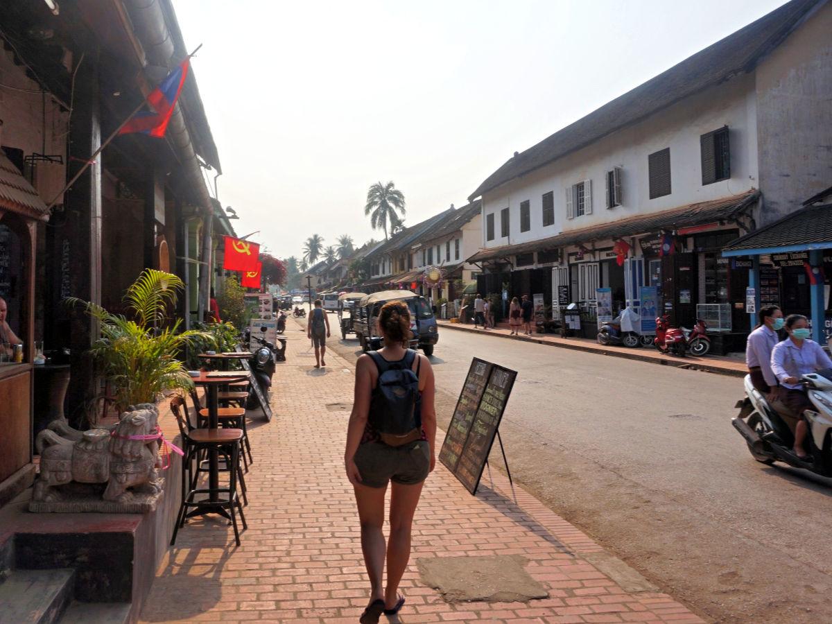 Luang Prabang, Laos - hoofdstraat