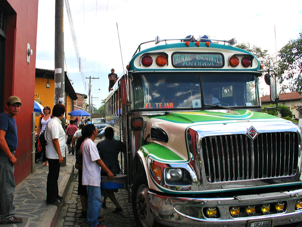 guatemala atitlan chickenbus