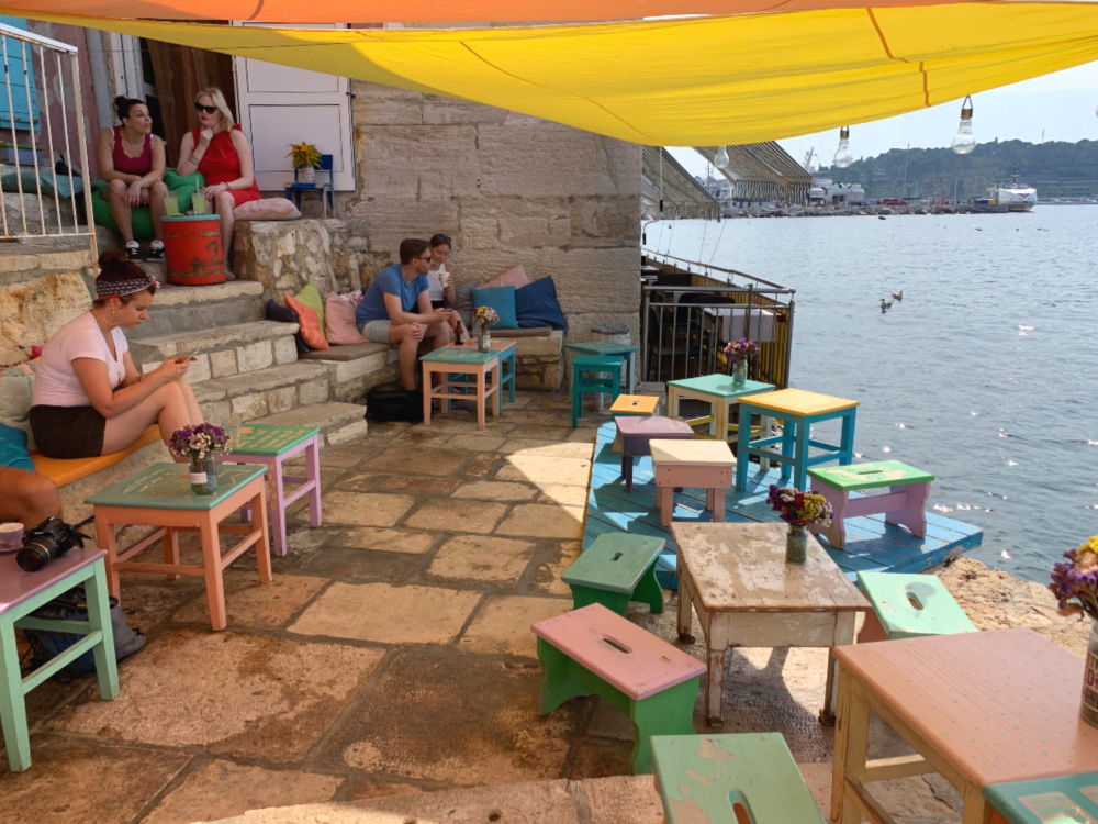cafe mediterraneo rovinj kroatië