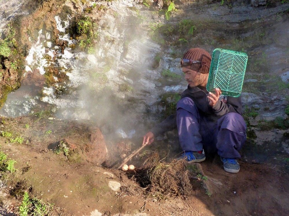 vulkaan beklimmen bali - eitje koken